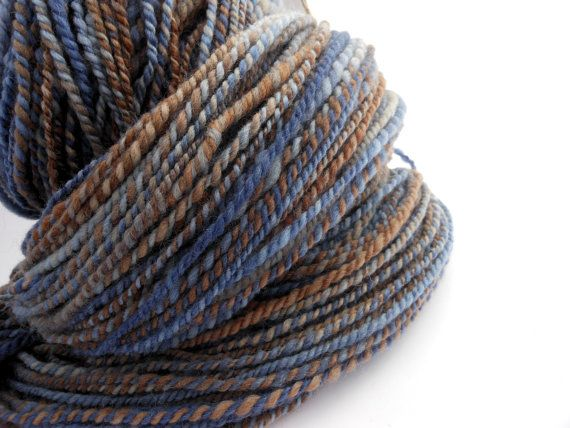 Shoreline - soft DK-worsted weight Shetland wool 2 ply handspun yarn by EarthMother Designs.