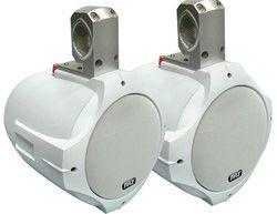Dual Marine Wakeboard Water Resistant Speakers 8-Inch 300 Watt Tower Speakers White