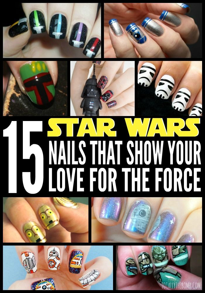 15 Star Wars Nails That Show off Your Love For The Force
