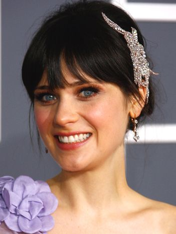I've been having a hard time finding wedding hair ideas with straight  across bangs. Has anyone seen any really cute pics of hairstyles (updo's,  downdo's, ...