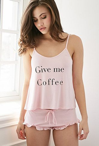 Give Me Coffee and Cake PJ Set   Forever 21 - 2000076590