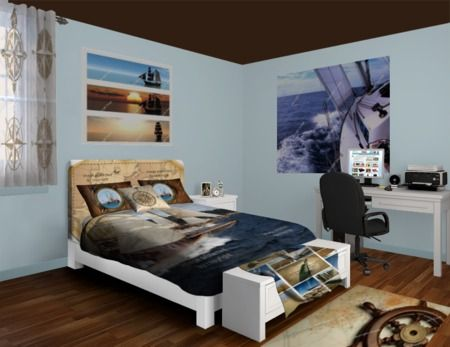 Custom Nautical Themed Bedroom #nauticalbedroomdecorideas #nauticalbeddingideas #nauticalbeddingsets #nauticalcomforters #nauticalduvetcovers #nauticalpillows #nauticalwindowcurtains #nauticalrugs #nauticalblankets #nauticalwallart #nauticalwallmurals #nauticalcustombedding #nauticalduvetcovers #nauticalcomforters #nauticaltheme #visionbedding #customsize #personalized #unique #cool