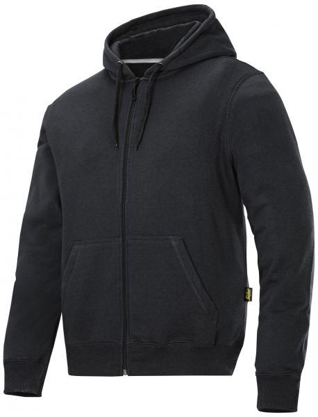 Lækker hættetrøje til en god pris: Snickers hættetrøje med lynlås, sort (2801-0400) - Overdele - BILLIG-ARBEJDSTØJ.DK