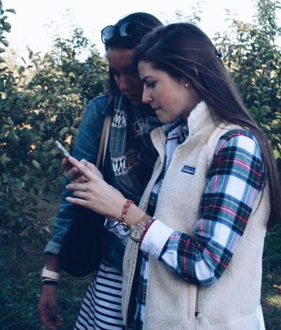 Love the vest and plaid look