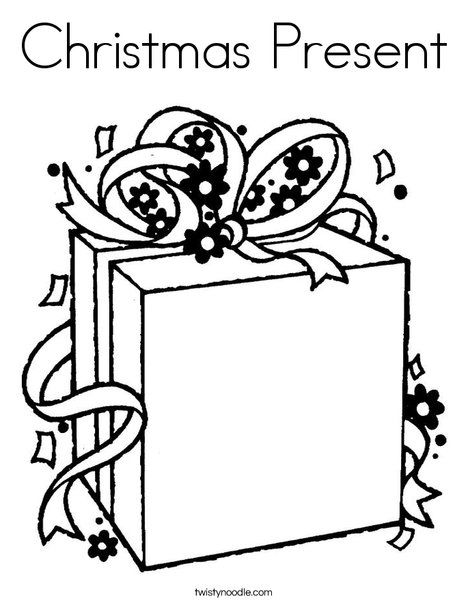 Christmas Present Coloring Page - Twisty Noodle ...