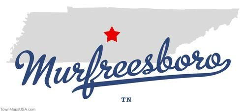 Map of Murfreesboro Tennessee TN