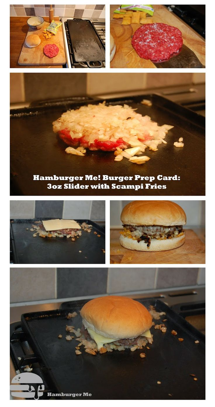 Recipe card for my Scampi Fries Beef Sliders