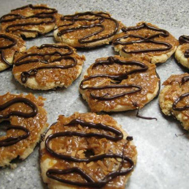Homemade Samoas. Gluten Free Recipe