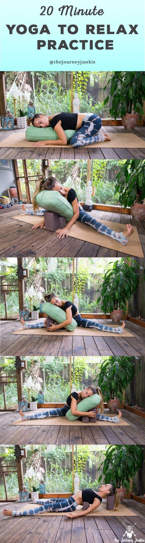I like this 20 Minute Yoga Video to Relax, Release and Restore - Pin now, relax later!...
