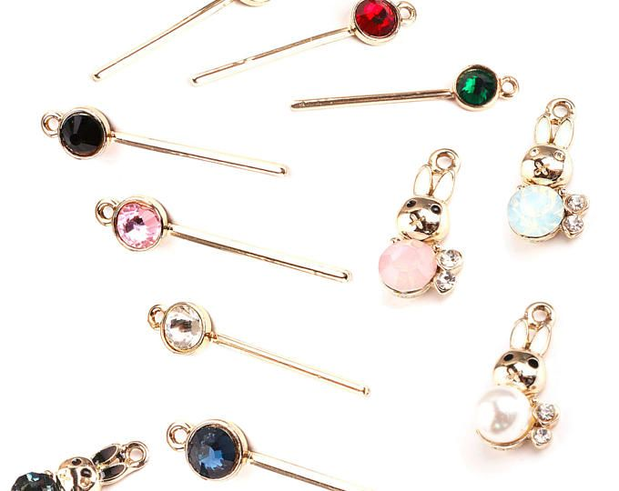 Bar Pendant Crystal Metal Earring Making Drop Earrings DIY Jewelry Making Supplies Crystal Charms findings colored smoky crystal bar, 2 pcs
