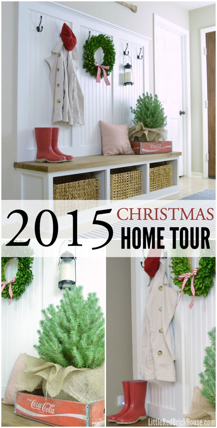 Christmas 2015 Home Tour Part 1   LITTLE RED BRICK HOUSE