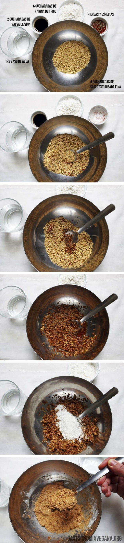 Hamburguesa básica de soja texturizada (Gastronomía Vegana)