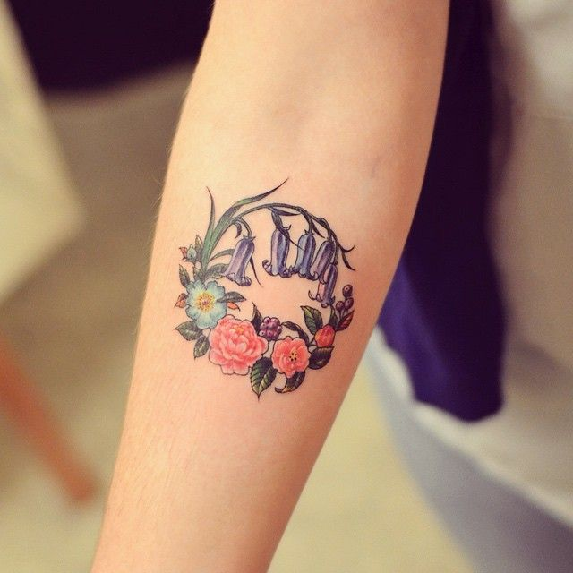 Pin for Later: 21 Seasonal Tattoo Ideas For Anyone Who Really, Truly Loves Spring Bluebells