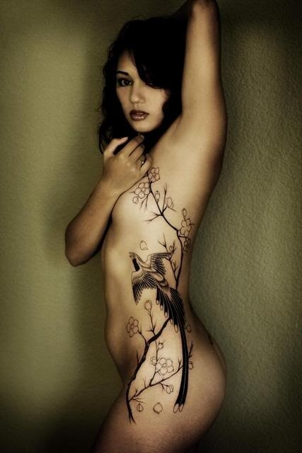 Hip Tattoos For Girls One Going From My Upper Thigh Area Along My Side