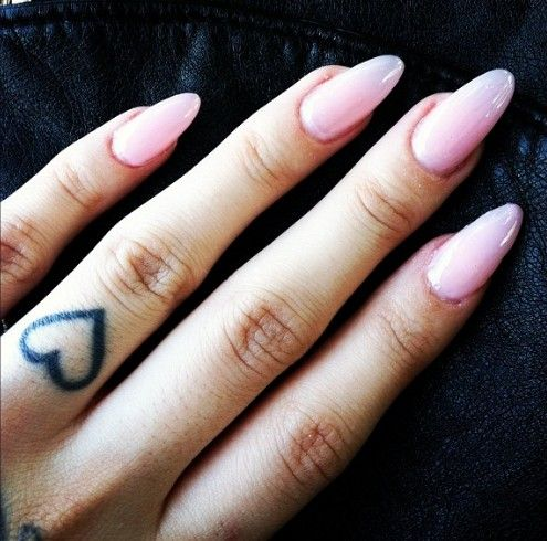 Gorgeous Light Pink Long Almond Nails ★ | Nail Fiend ...