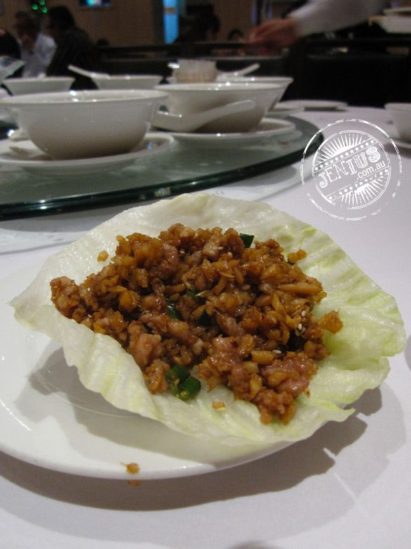 Golden Century Seafood Restaurant - Chinese - close up of san choi bow