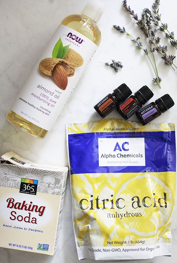 DIY bath bomb ingredients
