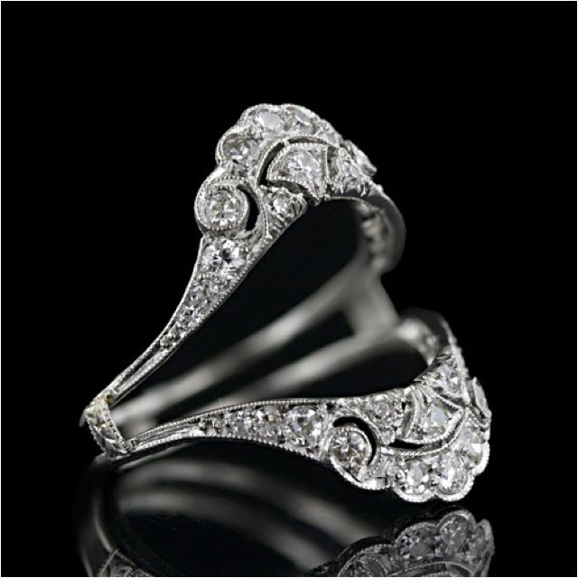 "A beautiful way to up dress your ring  for a different look once and awhile!!:) there called ring ""wraps"" or ""jackets"" I think!"