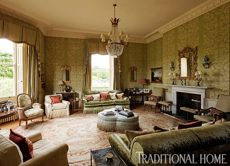 The quintessential english drawing room is about layers for Classic manor builders cabins