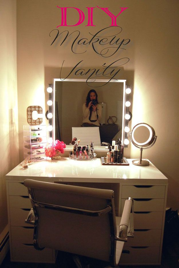 DIY Dresser Ideas for Teen Girls Bedroom | DIY Vanity by DIY Ready at http: