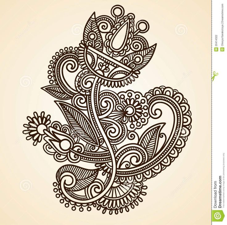 Abstract Henna Mendie Flowers - Download From Over 29 Million High Quality Stock Photos, Images, Vectors. Sign up for FREE today. Image: 20414322