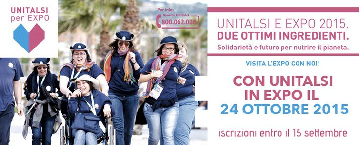 Unitalsi a Expo Milano 2015 il prossimo 24 ottobre http://www.unitalsi.info/ita/web/item.asp?nav=1693&utm_content=buffer2ccad&utm_medium=social&utm_source=pinterest.com&utm_campaign=buffer