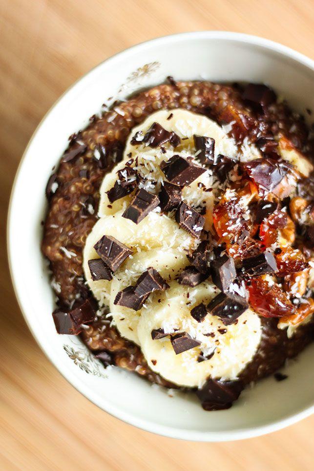 Porridge de quinoa chococo sans gluten et vegan
