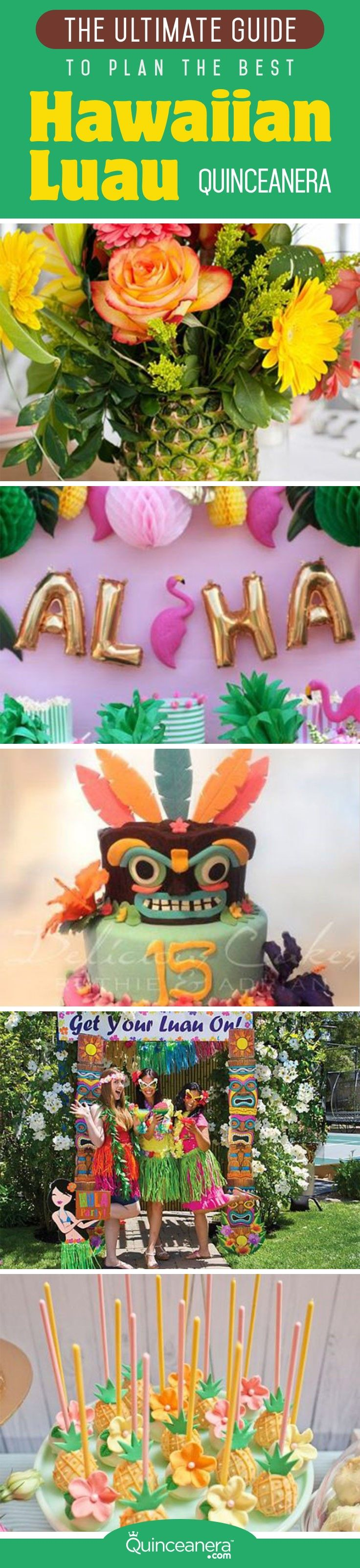 Say aloha to these bright ideas to plan a luau quinceanera! From quinceanera dresses to cakes, find everything you need to transport your guests to a tropical paradise. - See more at: http://www.quinceanera.com/decorations-themes/hawaiian-luau-quinceanera/#sthash.1skvZRFB.dpuf