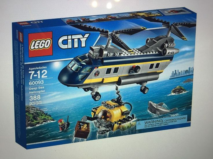 LEGO 60093 City Deep Sea Explorers Helicopter Building Kit New #LEGO