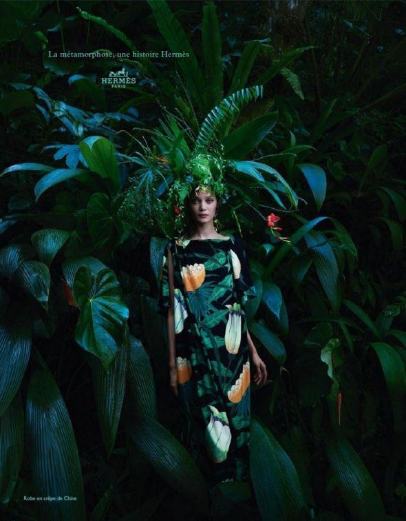 Hermès Femme Printemps Eté 2014 : Campagne Amazonienne