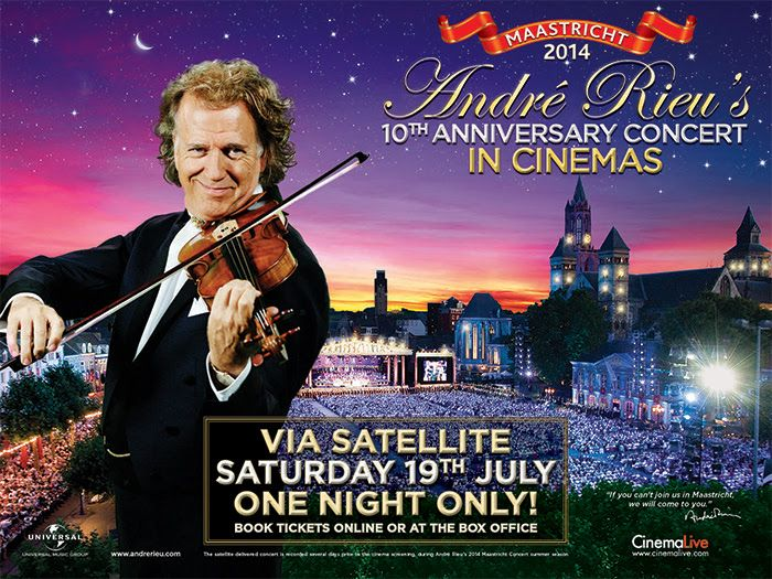 André Rieu is back in cinemas with his 10th Anniversary Maastricht Concert | The Sound of Maastricht www.thesoundofmaastricht.com