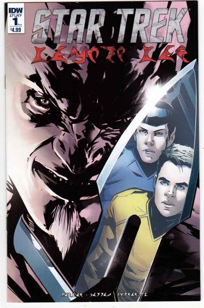 Star Trek Manifest Destiny - Klingon Language Edition (2016) Angel Hernandez Cover. Mike Johnson & Ryan Parrott Story. Angel Hernandez Pencils.