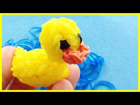 Rainbow Loom Pumpkin 3D mini Charms - Halloween-How to loom bands tutorial - YouTube
