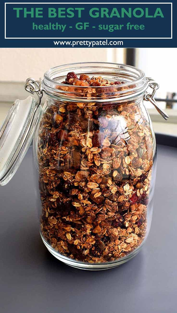 homemade granola, healthy granola, breakfast recipe, gluten free, granola, vegetarian, low carb