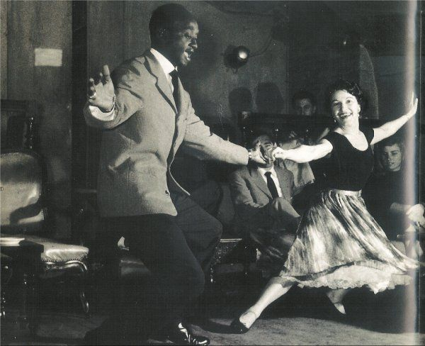 """Via www.sharonmdavis.com:   """"Swing dancing"""" is an umbrella term for any dance done to swinging jazz music from the 1920s, 30s or 40s. The most popular (and spectacular) of these dances was the Lindy Hop - a partnered dance that evolved out of the Charleston in the late 1920s, in Harlem New York.   It is named after aviator Charles Lindbergh (1927 newspaper headlines read """"Lindy Hops The Atlantic""""). It is sometimes just called The Lindy, and some parts of the world knew it as The Jitterbug."""