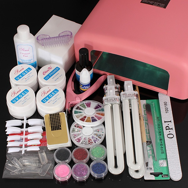 36W UV Gel Lamp Nail Art Manicure Set