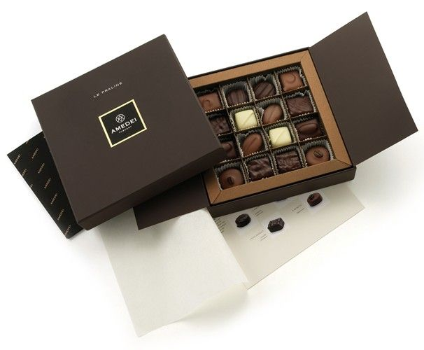 Luxury Chocolate box. Praline Amedei ❤︎ Leave a like, save this pin and follow more content if you loved this