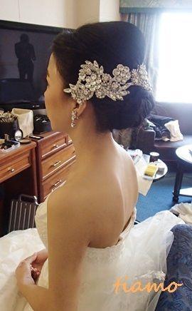 黒髪美人花嫁さまの洋装→和装♪素敵な一日 |大人可愛いブライダルヘアメイク『tiamo』の結婚カタログ