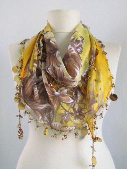 Christmas gift cotton scarfAutumn scarf Traditional by asuhan, $22.90