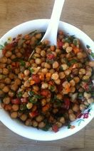 Chic pea and spring vegetable salad Recipe