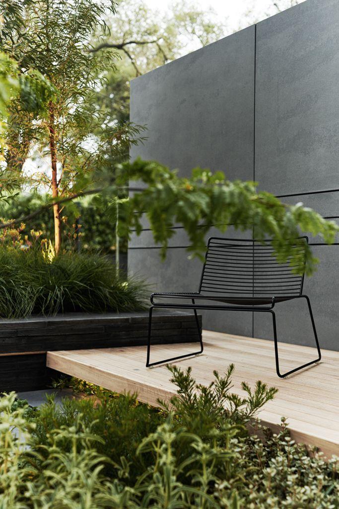 light tones in this exterior timber. Acre Studio - Our award winning Boutique Garden built for the Melbourne International Flower & Garden Show 2015.
