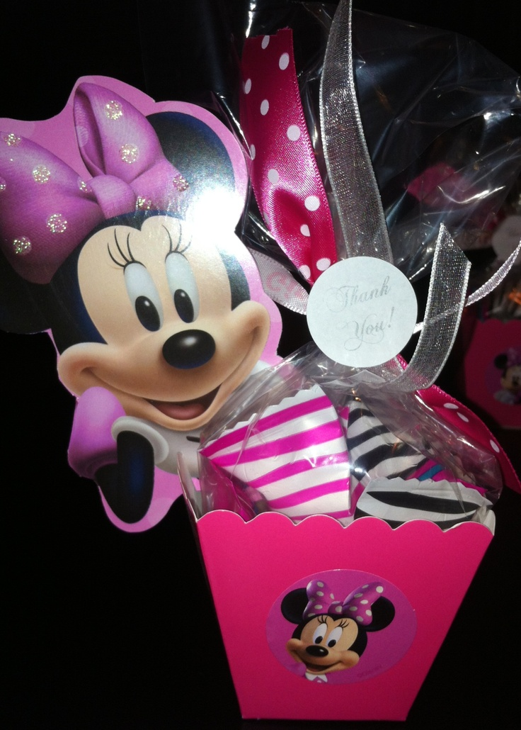 minnie mouse baby shower favors crystal 39 s baby shower. Black Bedroom Furniture Sets. Home Design Ideas