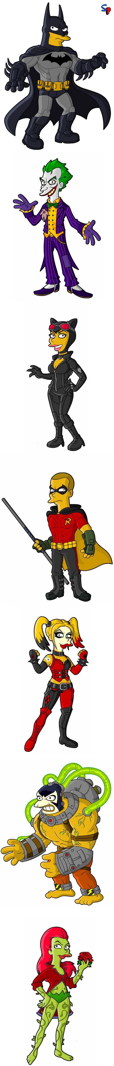 E se o Batman fosse um Simpson?