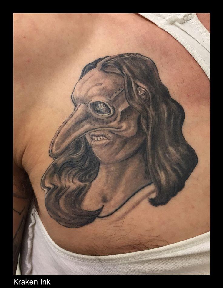 Lady with death mask @ Kraken Ink