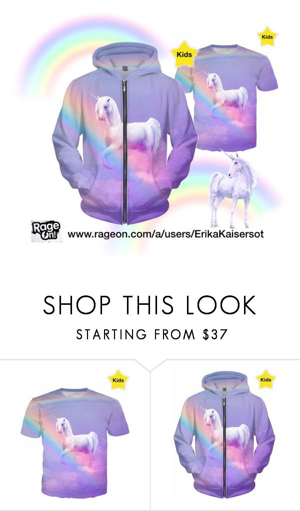 NEW for Kids. #unicorn  and rainbow #hoodie and #shirt design by #ErikaKaisersot for sale on @Rageon www.rageon.com/a/users/ErikaKaisersot