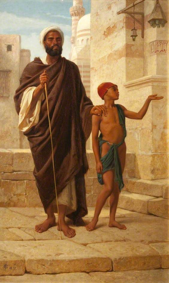 Frederick Goodall (English, 1822-1904). Helping Hand