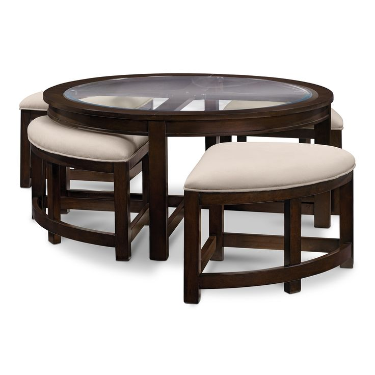 Four Corners Cocktail Table with 4 Benches - American Signature Furniture  *Pefect game night table* - 18 Best Images About Value City Furniture Sofantastic Giveaway On