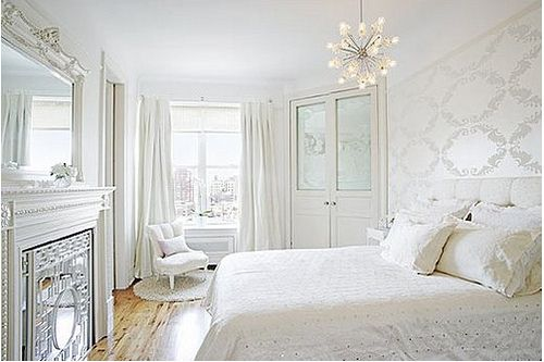 White Bedroom - Beautiful White Bedroom Pictures: http://pinterestingpictures.blogspot.com/2013/01/beautiful-white-bedroom-pictures.html: Decor, Interior, All White, Shabby Chic, White Bedrooms, Master Bedroom, Design, Bedroom Ideas, White Room
