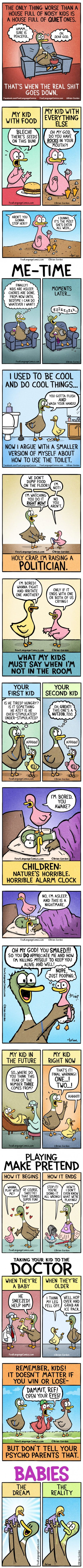 15 Superb Comics Which Absolutely Every Parent Can Relate (By Fowl Language Comics)
