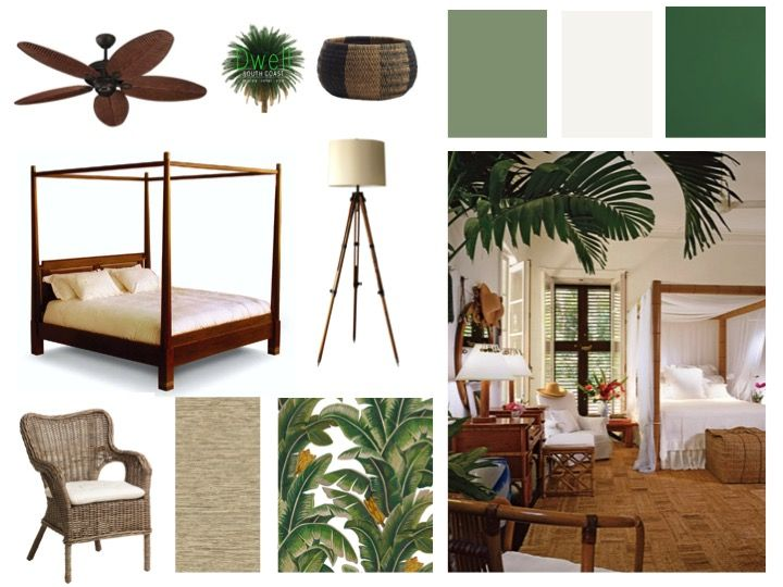 We always create moodboards for our clients when developing a brief.  We  find it helps to show the client the kind of feel we are aiming for in  their home.  The British Colonial Style moodboard below is one we created  for clients who had moved into their dream home but needed a little help  w